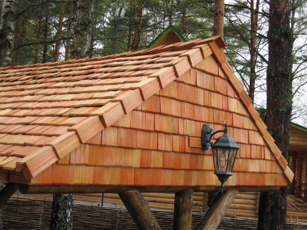 Деревянное покрытие крыши - еврокровля