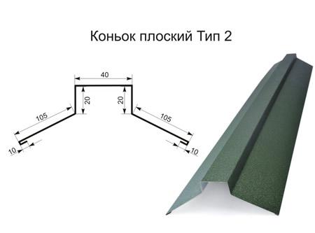 Конёк плоский тип 2
