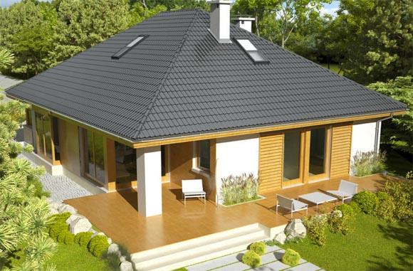 Четырехскатная шатровая крыша