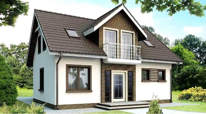 фото дома с мансардной крышей